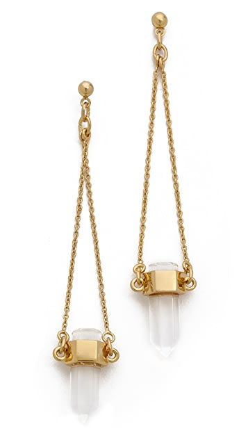 Rachel Zoe Cut Crystal Drop Earrings