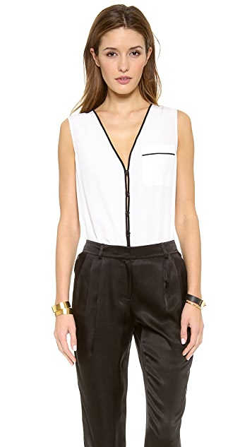 Rachel Zoe Sable Sleeveless Blouse