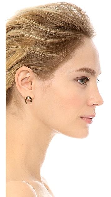 Rachel Zoe Safari Mini Crescent Stud Earrings