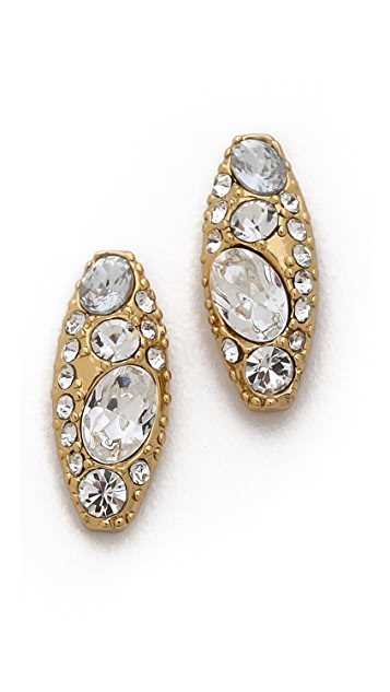 Rachel Zoe Pave Pod Stud Earrings