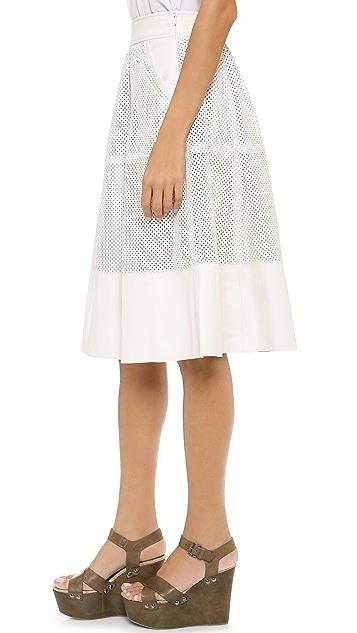 Rachel Zoe Bradford Perforated Leather Skirt