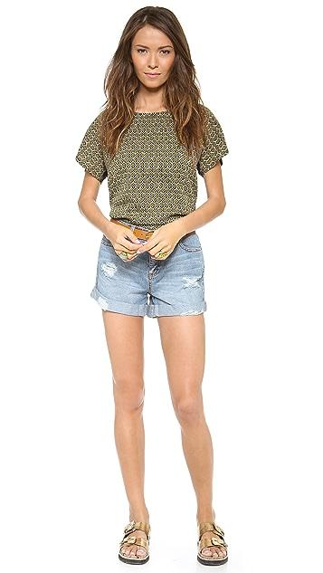 Rachel Zoe Jocelyn Distressed Boyfriend Shorts