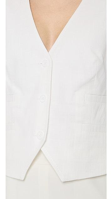 Rachel Zoe Kruze Linen Vest