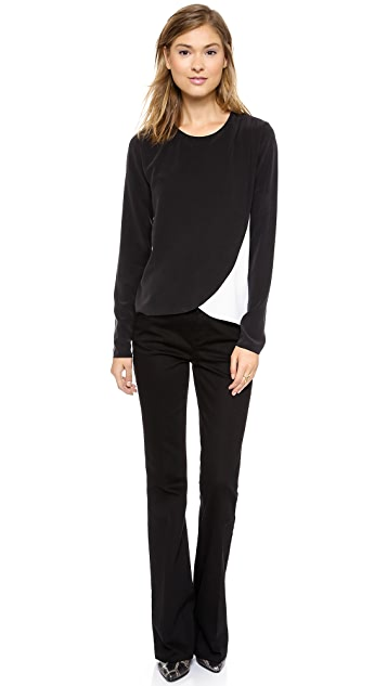 Rachel Zoe Faux Wrap Top