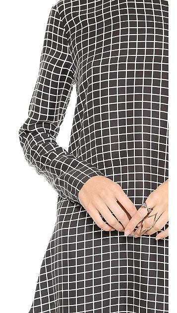 Rachel Zoe Long Sleeve Flounced A Line Dress