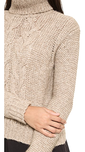 Rachel Zoe Nicola Fuinnel Neck Cable Sweater
