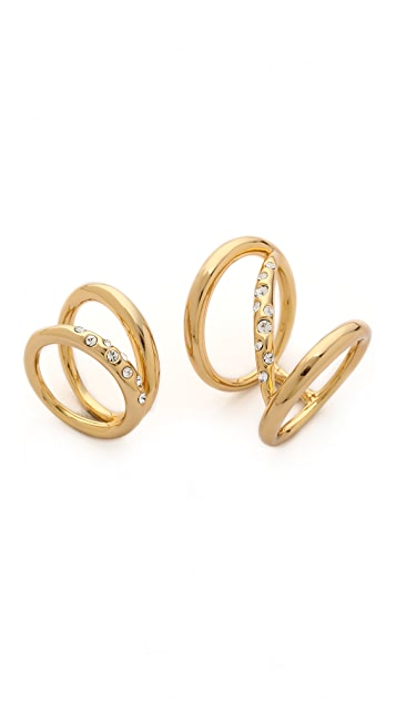 Rachel Zoe Quills Set of 2 Rings