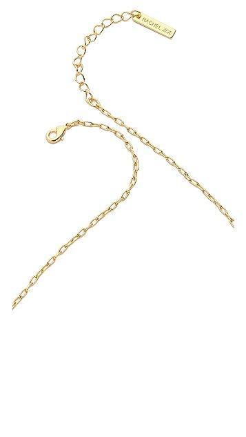 Rachel Zoe Quills Pave Bar Necklace