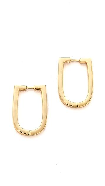 Rachel Zoe U Hoop Earrings