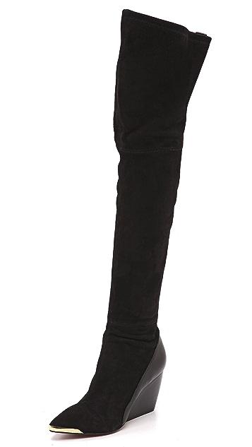 Rachel Zoe Nico Over the Knee Wedge Boots