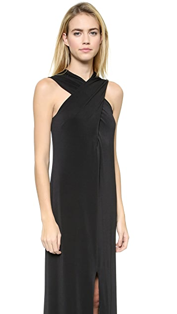 Rachel Zoe Cross Front Maxi Dress