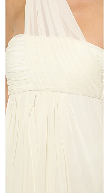Rachel Zoe Elle Empire One Shoulder Gown