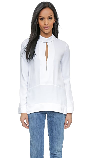 Rachel Zoe Jilly Long Sleeve Split Placket Top