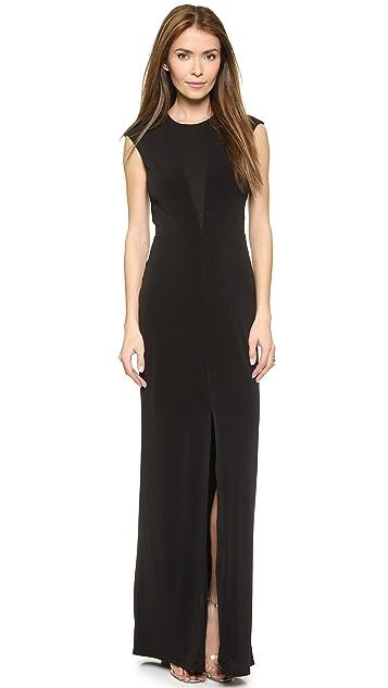 Rachel Zoe Amara Sheer Inset Maxi Dress