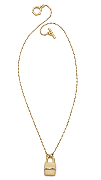 Rachel Zoe Gavriel Small Lock Necklace