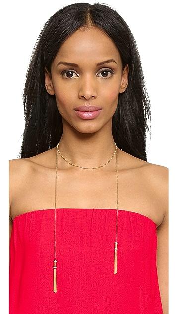 Rachel Zoe Nicola Micro Tassel Necklace