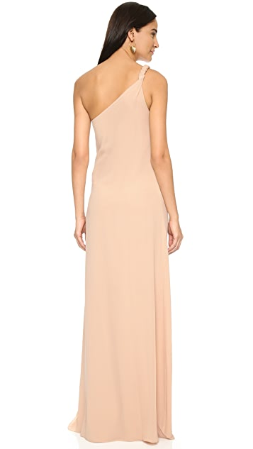 Rachel Zoe One Shoulder Silk Maxi Dress