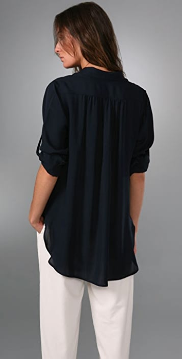 Rag & Bone Shirred Boyfriend Shirt