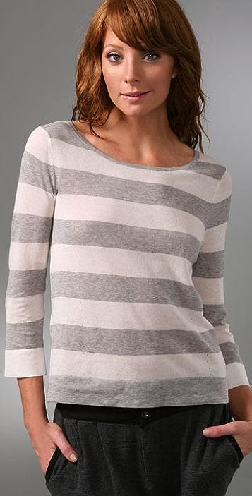 Rag & Bone 3/4 Wide Stripe Sweater