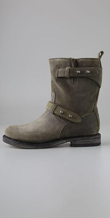 Rag & Bone Suede Moto Boots