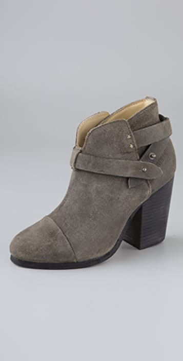 Rag & Bone Harrow Suede Booties with Ankle Strap