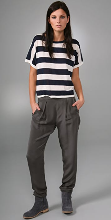 Rag & Bone Short Sleeve Wide Stripe Top