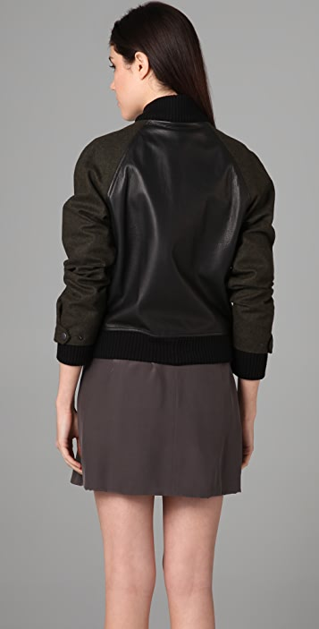 Rag & Bone Varsity Leather Jacket