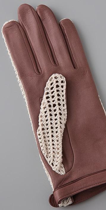 Rag & Bone Crocheted Gloves