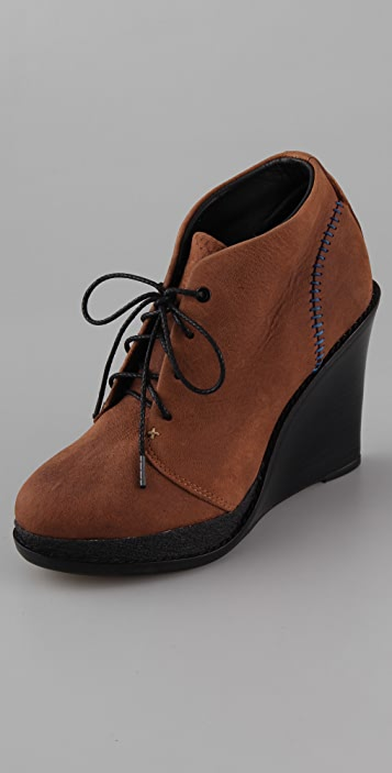 Rag & Bone Odval Desert Wedge II Booties