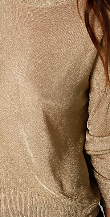 Rag & Bone Gansevoort Metallic Sweater