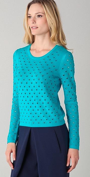 Rag & Bone Eyelet Long Sleeve Sweater