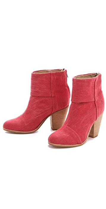 Rag & Bone Classic Newbury Canvas Booties