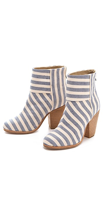 Rag & Bone Classic Newbury Striped Canvas Booties