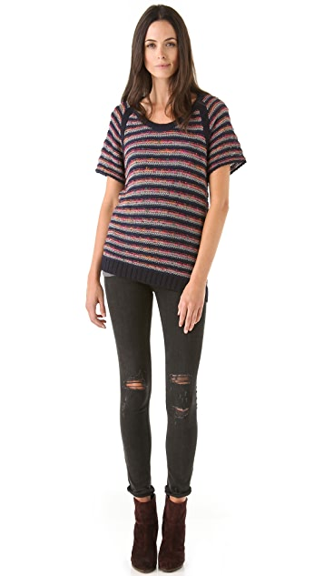 Rag & Bone Amy Striped Pullover