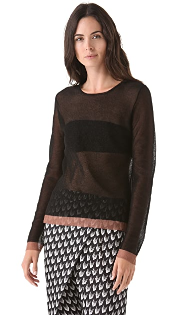 Rag & Bone Raelle Sheer Sweater