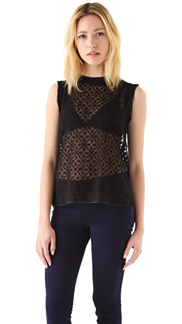 Rag & Bone Kinwat Distressed Top