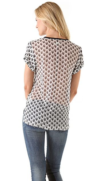 Rag & Bone Arrow Print Pocket Tee