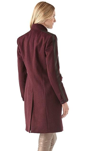 Rag & Bone Maharaja Coat w Leather Stripe