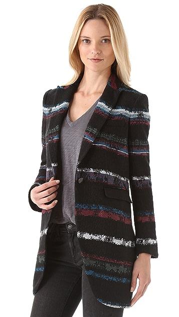 Rag & Bone Striped Smoking Coat