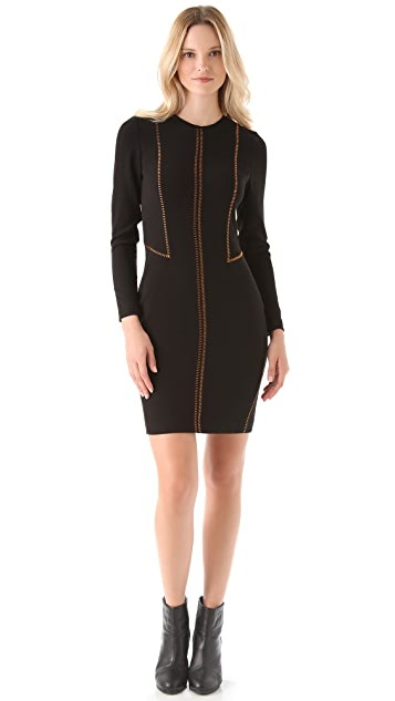 Rag & Bone Raj Copper Stitch Dress