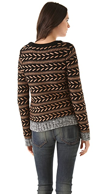 Rag & Bone Lisbeth Metallic Sweater