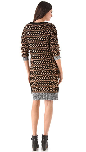 Rag & Bone Lisbeth Embroidered Sweater Dress