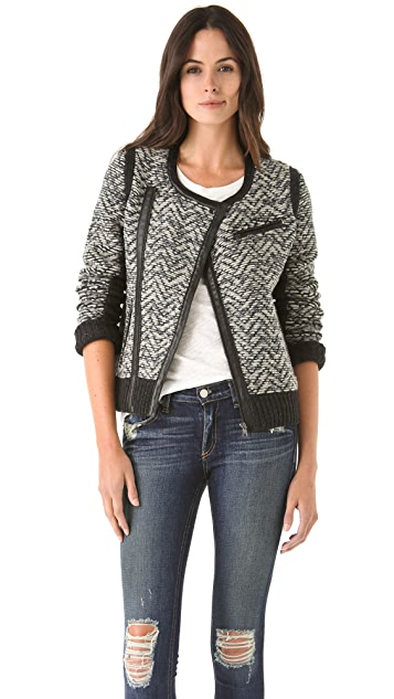 Rag & Bone Smantha Knit Biker Jacket