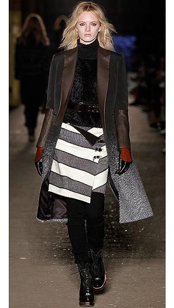 Rag & Bone Tani Stripe Skirt