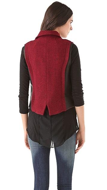 Rag & Bone Mughal Wool Moto Vest