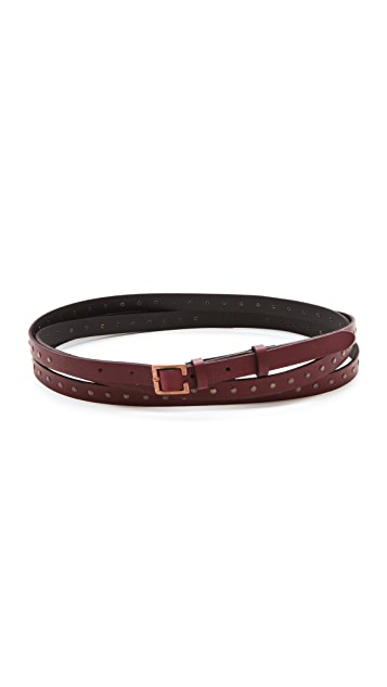 Rag & Bone Hammered Triple Wrap Belt