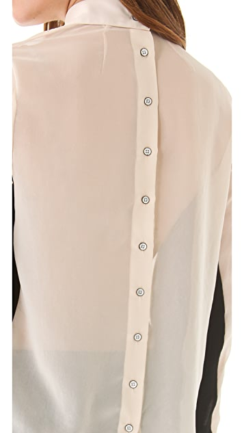 Rag & Bone Back Button Tux Shirt