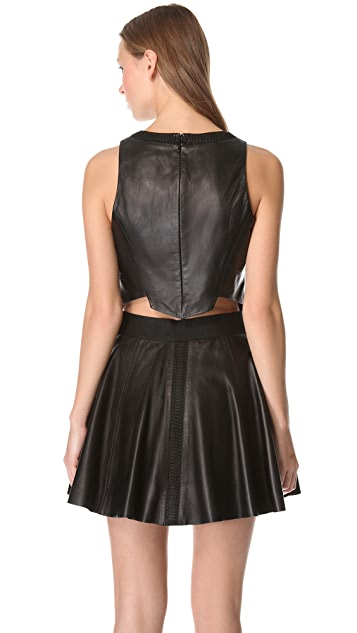 Rag & Bone Renard Leather Top