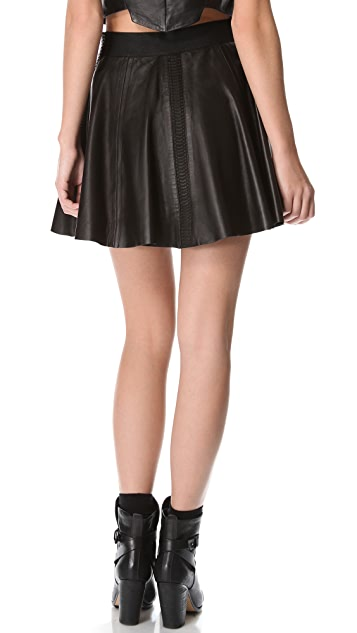 Rag & Bone Raw Edge Leather Renard Skirt