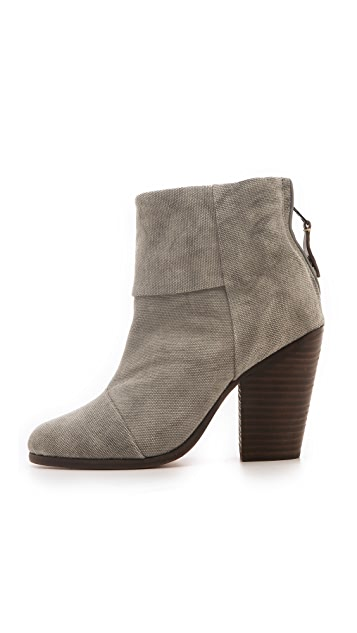 Rag & Bone Classic Newbury Booties in Canvas